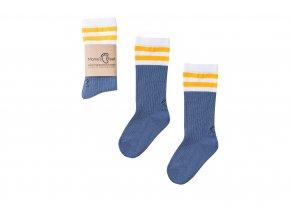 Mama's Feet Dětské podkolenky Back to Old School Jeans modré