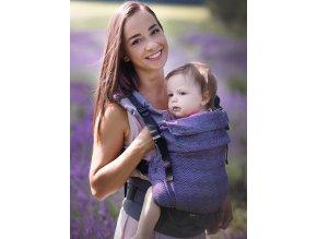Kinder Hop Rostoucí ergonomické nosítko Multi Grow Diamond Lavender 100% bavlna, žakár 2