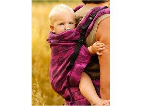 Kinder Hop Rostoucí ergonomické nosítko Multi Grow Dots Pink 100% bavlna, žakár 6
