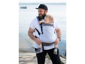 Kinder Hop Rostoucí ergonomické nosítko Multi Grow Grey Cube 100% bavlna 3