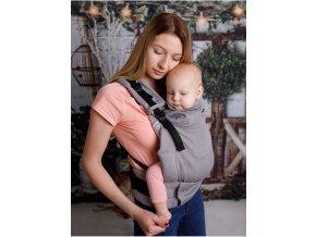 Kinder Hop Rostoucí ergonomické nosítko Multi Grow Little Herringbone Grey 100% bavlna, žakár 4
