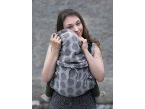 Kinder Hop Rostoucí ergonomické nosítko Multi Soft Dots Light Grey 100% bavlna, žakár 5