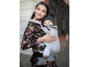 Kinder Hop Rostoucí ergonomické nosítko Multi Soft Little Herringbone Ecru 100% bavlna, žakár 5