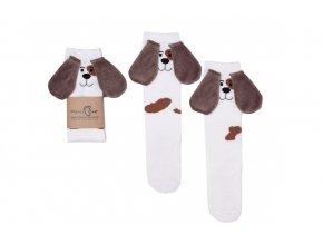 Mama's Feet Dětské podkolenky s pejskem Eared Animals Jasiek