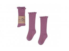 Mama's Feet Dětské podkolenky Mono Baby Heather fialové