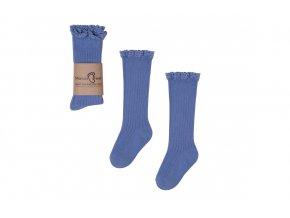 Mama's Feet Dětské podkolenky Mono Baby Blue modré