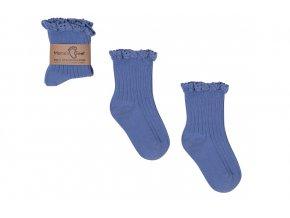 Mama's Feet Dětské ponožky Mono Baby Blue modré