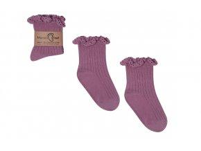 Mama's Feet Dětské ponožky Mono Baby Heather fialové