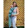 Kinder Hop Rostoucí ergonomické nosítko Half Buckle Little Herringbone Turquoise 100% bavlna, žakár mimi