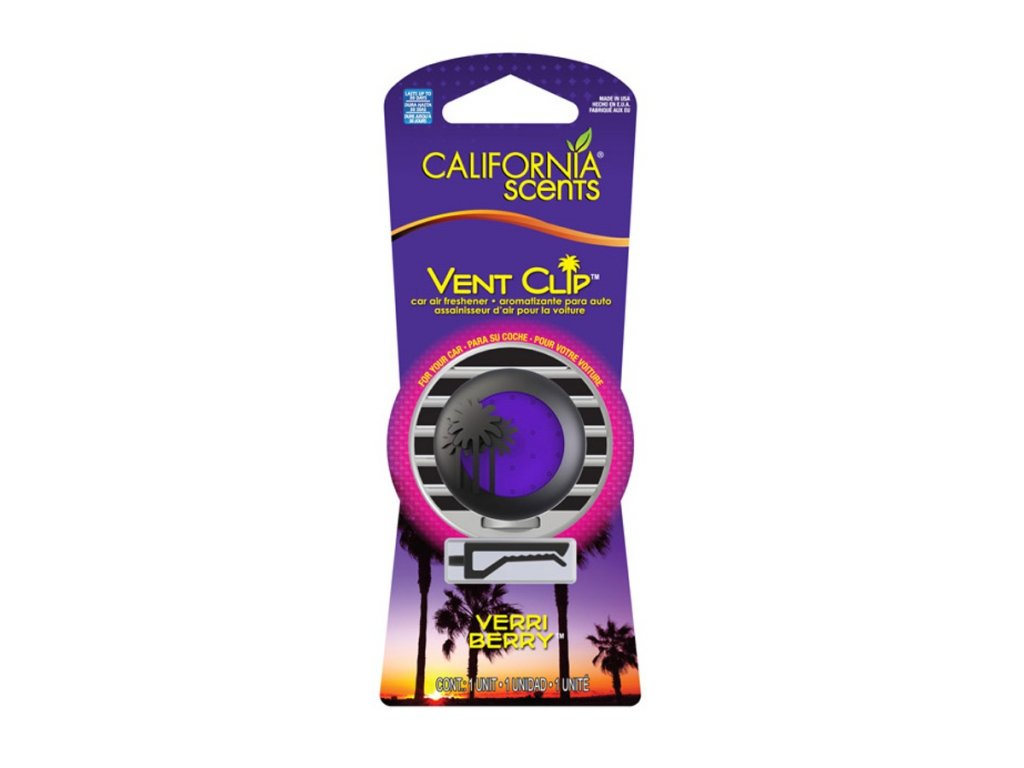 vůně do auta California Scents Vent Clip - BORŮVKA (verri berry)