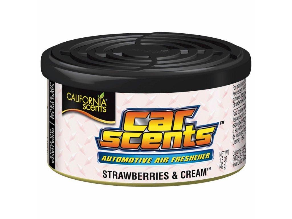 vůně do auta California Car Scents - JAHODY SE ŠLEHAČKOU (strawberries & cream)