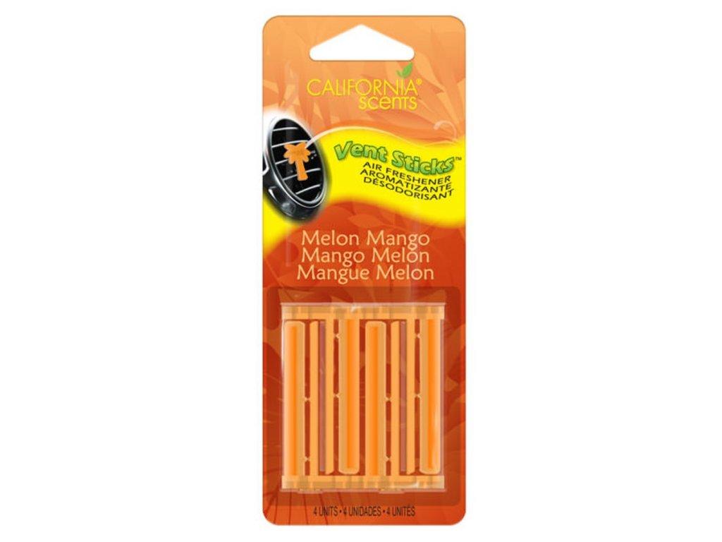 vůně do auta California Scents Vents Sticks MELOUN A MANGO (melon mango)