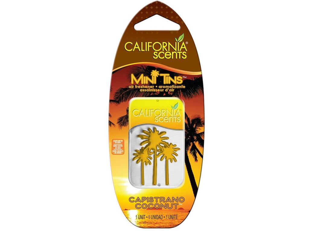 vůně do bytu California Scents Mini Tins KOKOS (capistrano coconut)