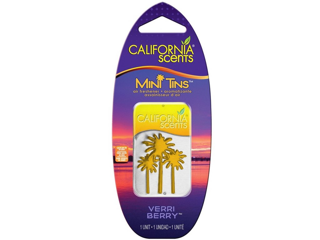 vůně do bytu California Scents Mini Tins BORŮVKA (verri berry)