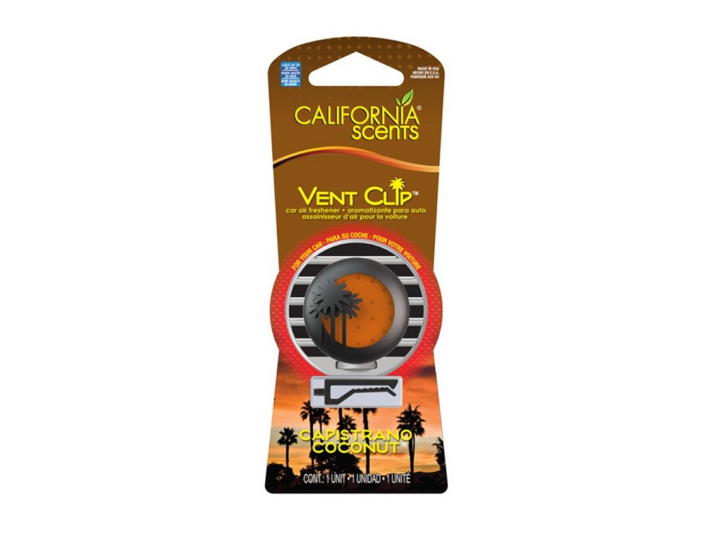 vůně do auta California Scents Vent Clip KOKOS (capistrano coconut)