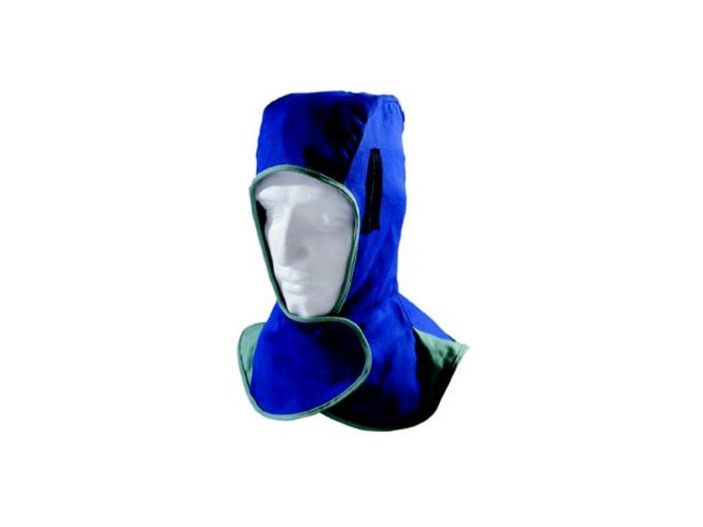 Kapucňa modrá