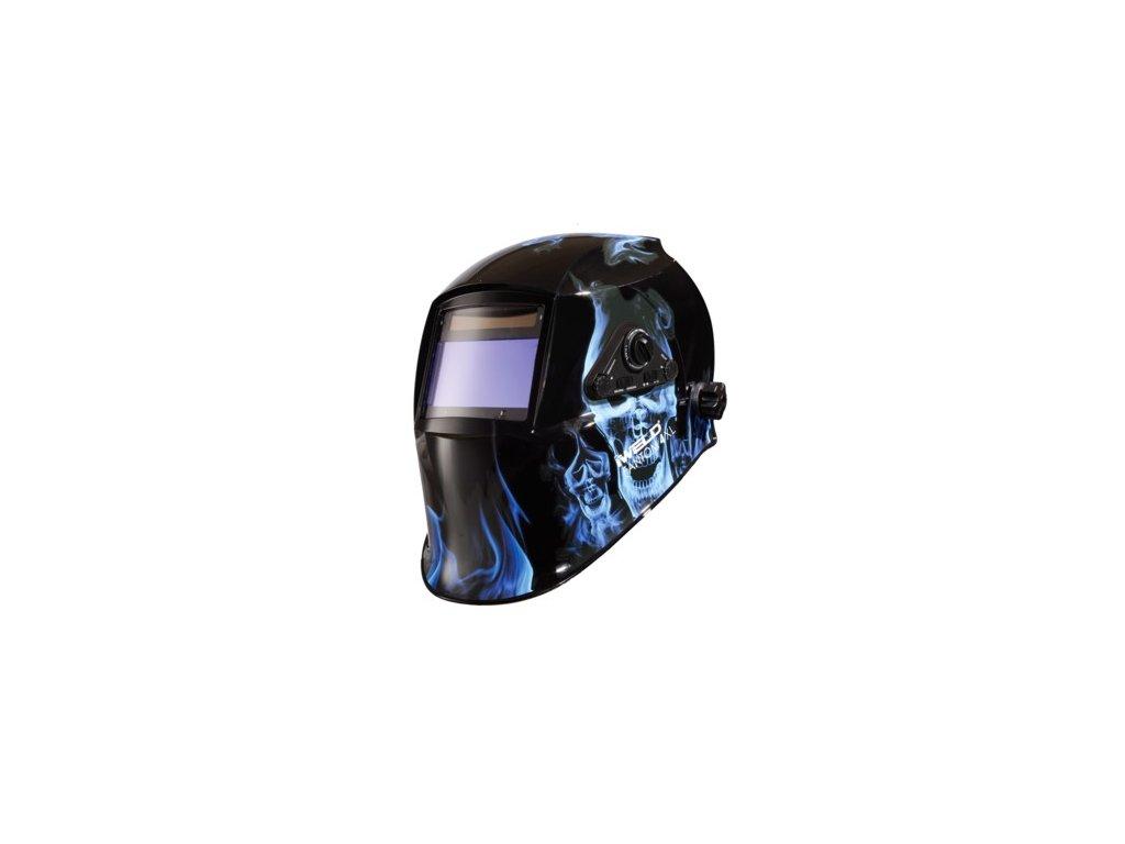 Samostmievacia kukla FANTOM 4 XL Blue Skull