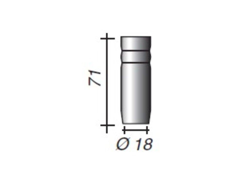 Plynová hubica ø,18