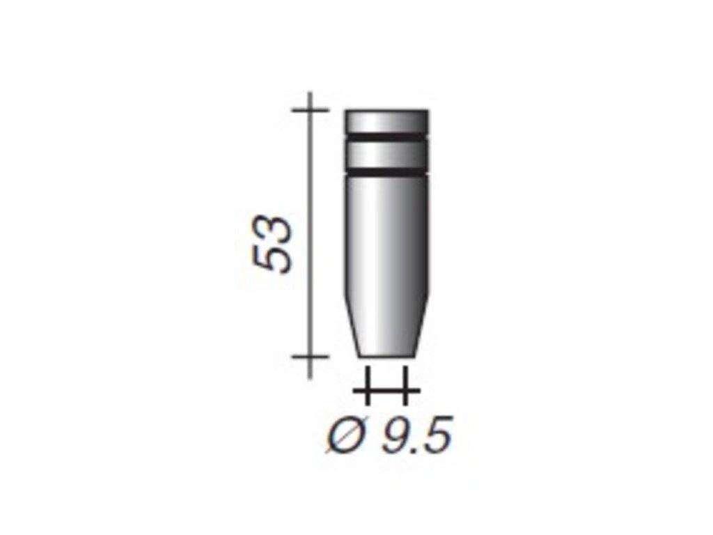 Plynová hubica Ergoplus ø,9,5