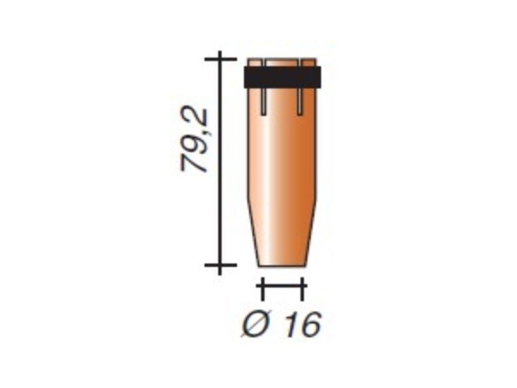Plynová hubica ø,16-III