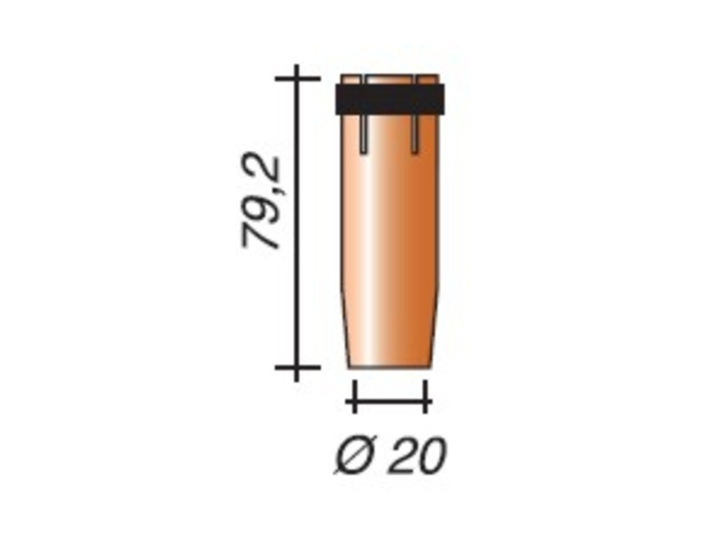 Plynová hubica ø,20-II