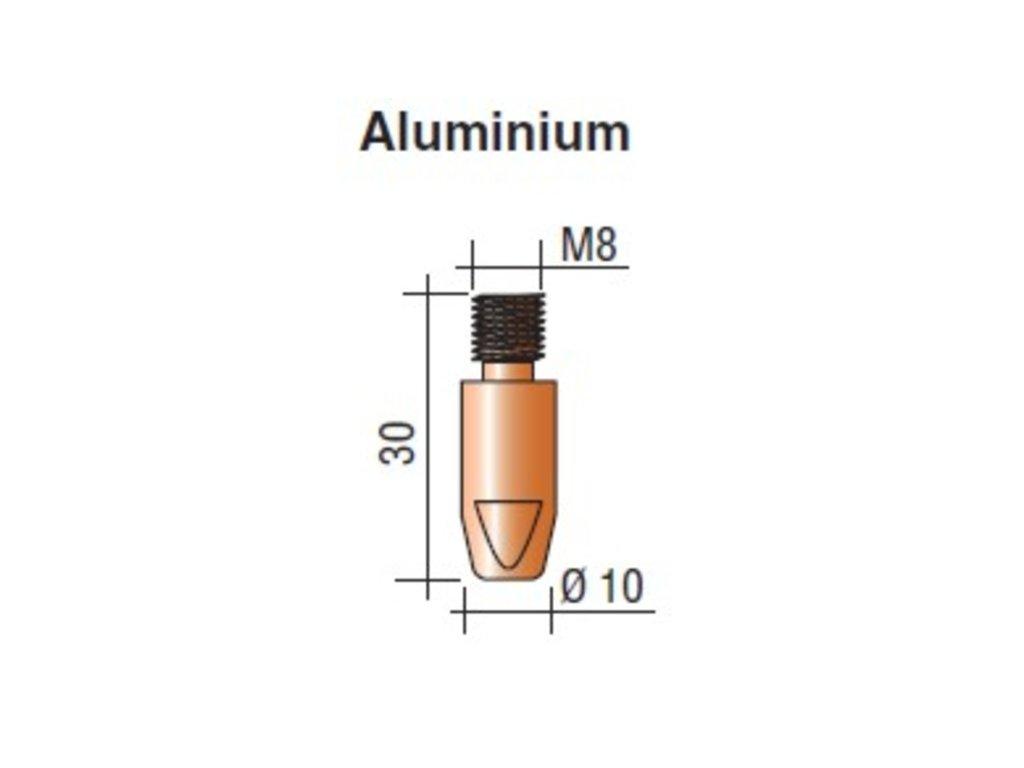 Kontaktná špička M8 x 30 Aluminium