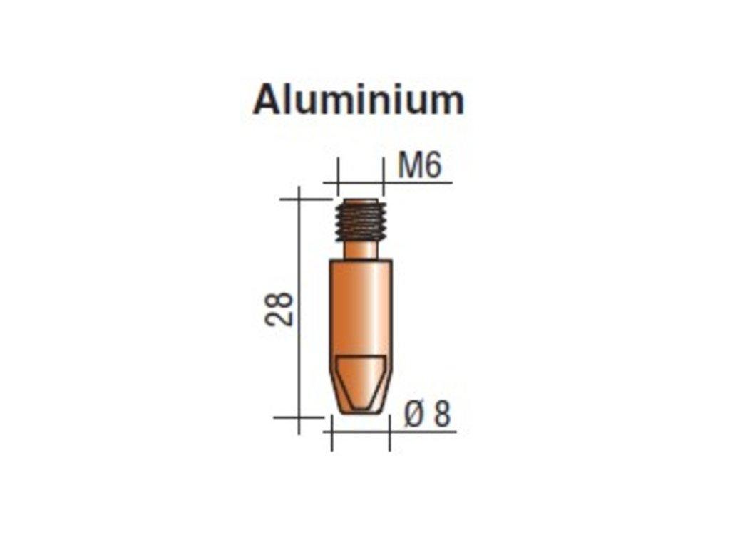 Kontaktná špička M6 x 28 Aluminium