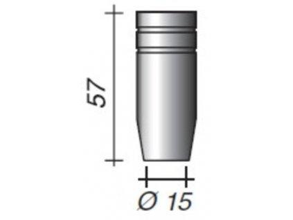 Plynová hubica Ergoplus ø,15