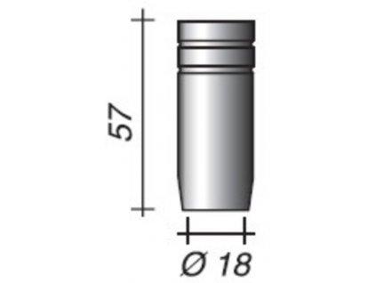 Plynová hubica Ergoplus ø,18