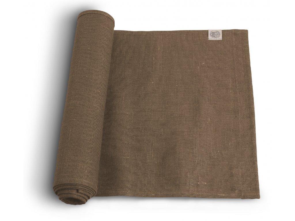 Lovely Linen stolní běžec 47x150 NOUGAT SINGLE