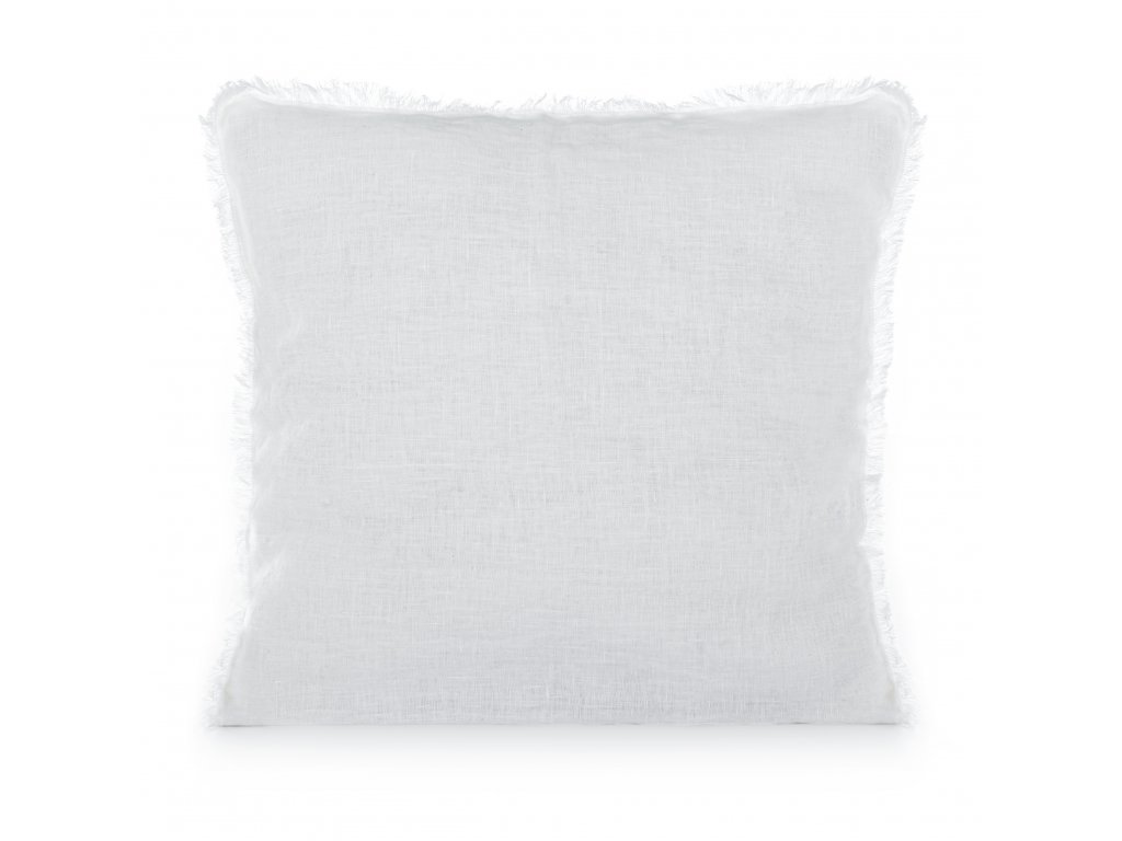Povlak na polštář s třásněmi White 50x50