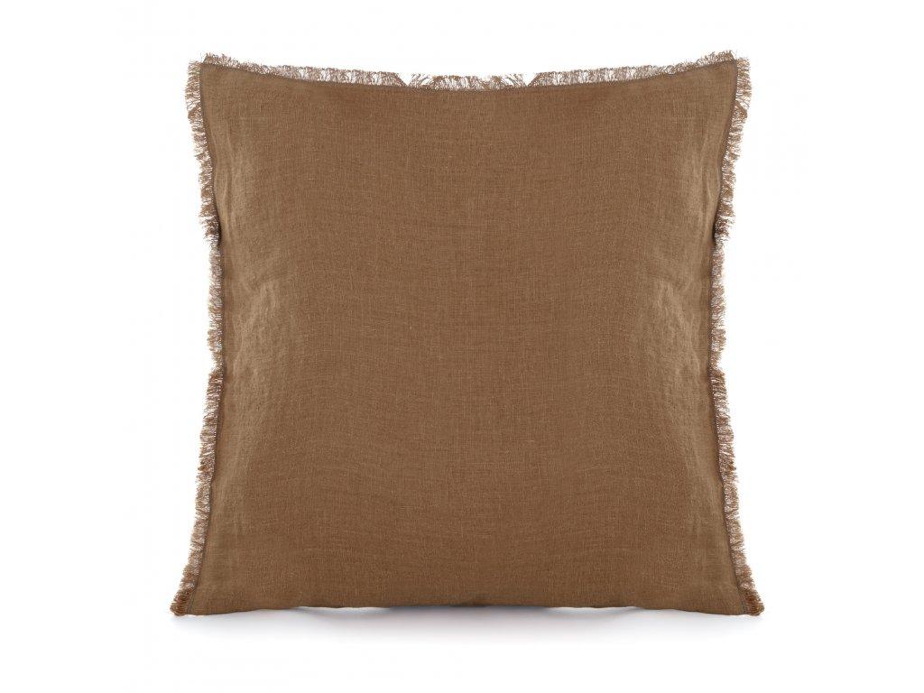 Povlak na polštář s třásněmi Cinamon 50x50