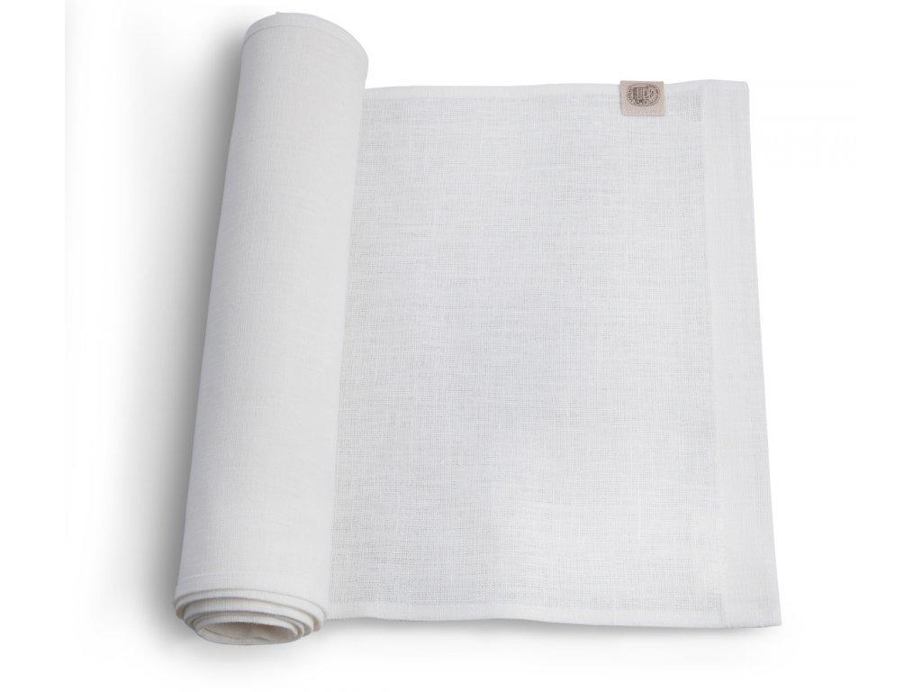 Lovely Linen stolní běžec 47x150 WHITE SINGLE