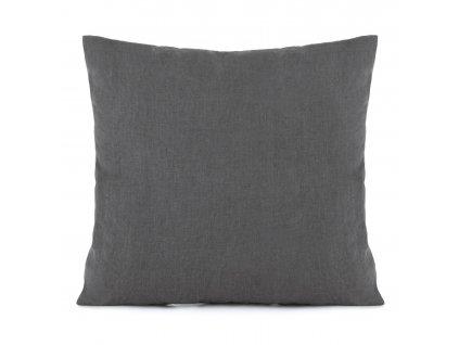 Povlak na polštář s třásněmi Dark Grey 50x50