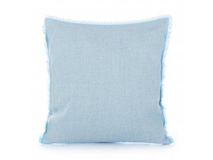 Povlak na polštář s třásněmi Light Blue 50x50