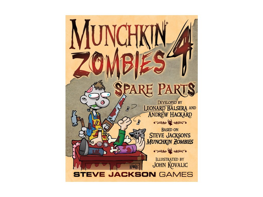 Munchkin: Zombies 4 Spare Parts (expansion)