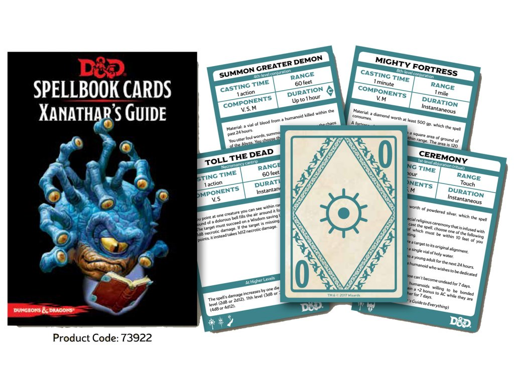 DnD Spellbook Cards Xanathars Guide To Everything