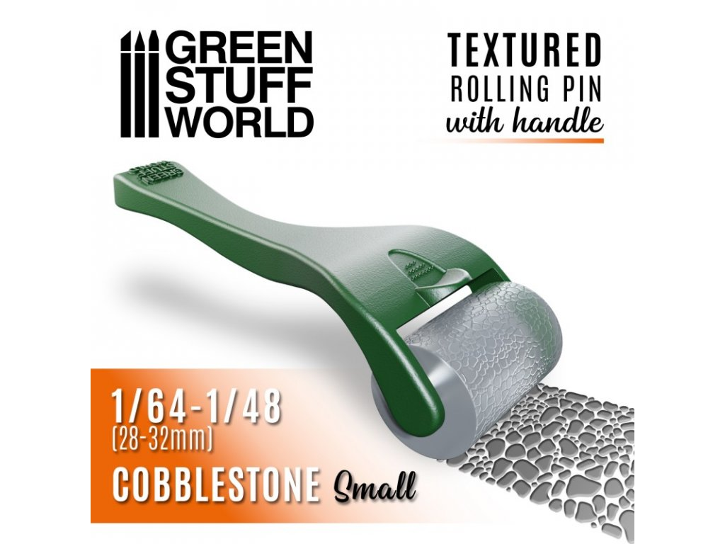 rolling pin with handle cobblestone small