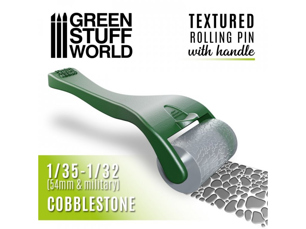 rolling pin with handle cobblestone