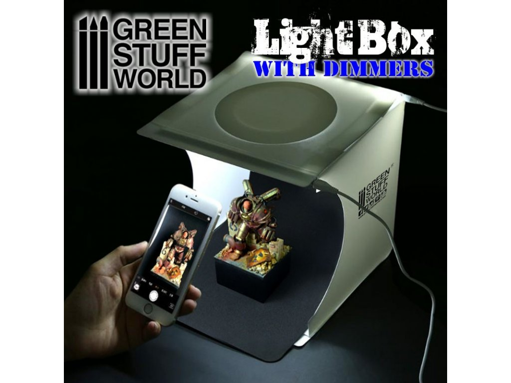 portable lightbox studio with led dimmer