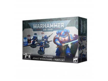 BSF 60 11 99170101012 Space Marines Assault Intercessors and Paint Set