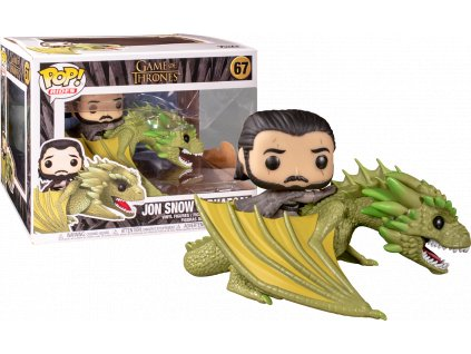 fun44448 game of thrones jon snow with rhaegal pop rides vinyl figure 01.1569223104