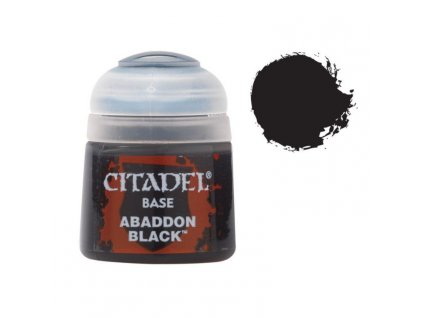 GW Citadel Base Abaddon Black 12ml