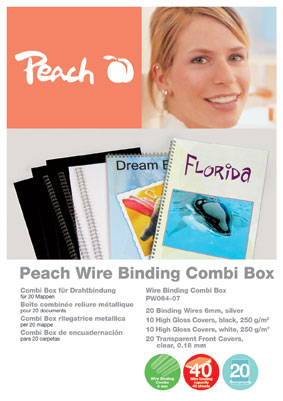 Peach Wire Binding Combi Box 6mm, PW064-07