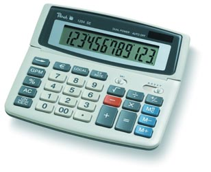 Peach Desktop Display calculator 1204 SE PR661
