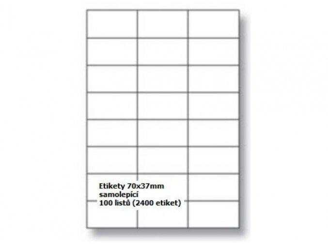 Etikety A4 70x37 mm - samolepící