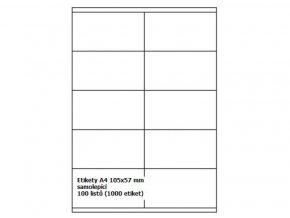 Etikety A4 105x57 mm - samolepící