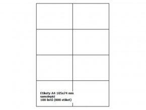 Etikety A4 105x74 mm - samolepící