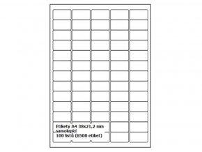 Etikety BTS A4 38,1x21,2 mm - samolepící