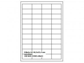 Etikety BTS A4 48,5x25,4 mm - samolepící